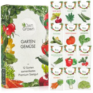 Garten Gemüse 12er Saatgut-Set