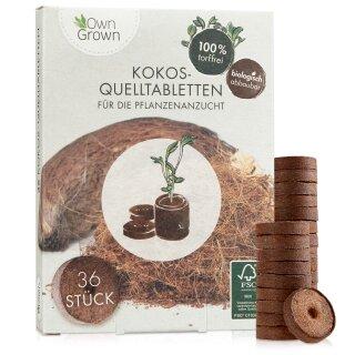 Kokos-Quelltabletten 36er