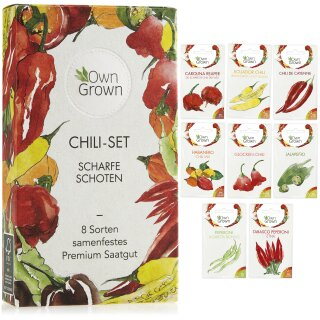 Chilis - Scharfe Schoten 8er Saatgut-Set